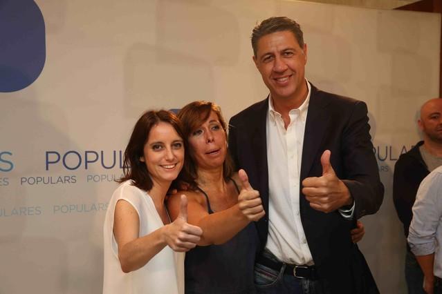 Barcelona 28/07/2015 Politica Alicia Sanchez Camacho presenta al nuevo candidato a las proximad elecciones Xavier García Albiol en el Hotel Gran Marina Foto: Elisenda Pons